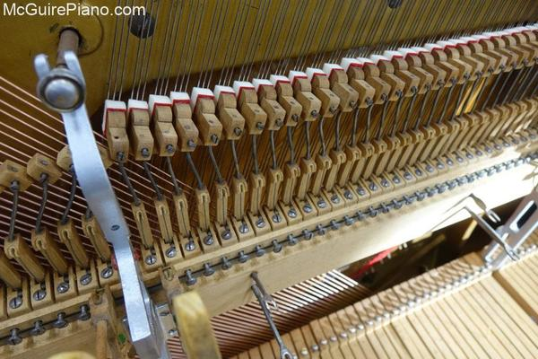 New treble dampers installed on Schaaf upright piano